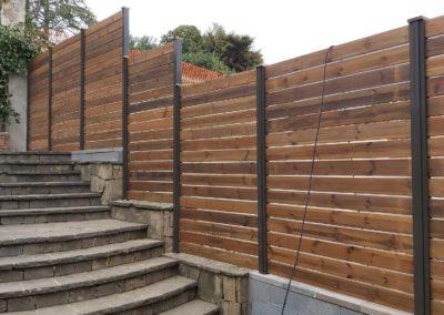 valla de madera tratada para exterior