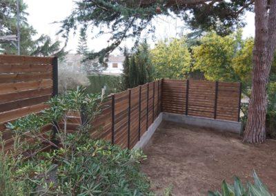 valla de madera tratada para jardín